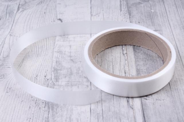 Лента простая (2см*10м) Гладкая без тиснения P2202 БЕЛЫЙ
