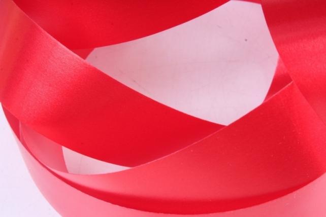 Лента простая 3х50м Гладкая без тиснения Красная P326