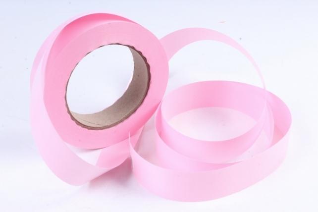 Лента простая 3х50м Гладкая без тиснения Розовая P325