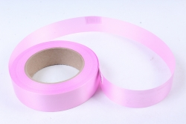 Лента простая 3х50м Гладкая без тиснения Ярко-розовая P322