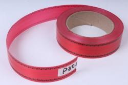 Лента простая (3см*50м) С дубками по краям P3044 КРАСНЫЙ