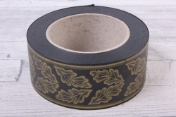 лента простая (5см*50м)  дубовый лист p555 черная