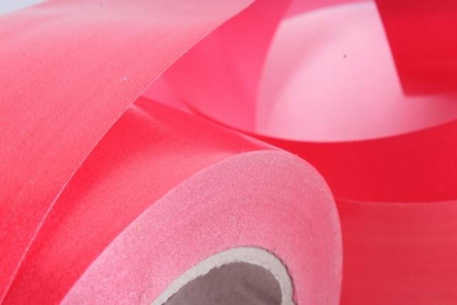 Лента простая (5см х 50м) Гладкая без тиснения P596 КРАСНЫЙ