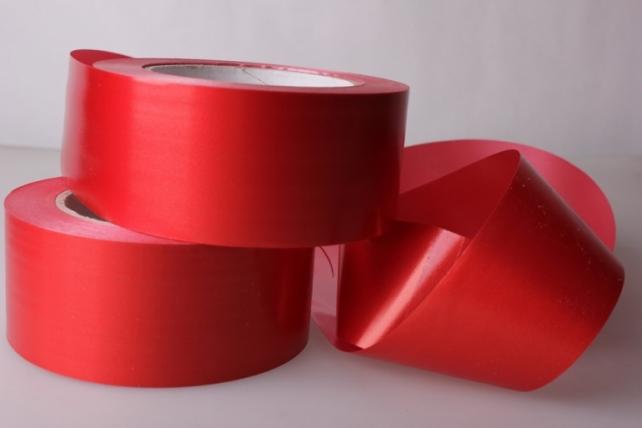 5,0 см х 50м простая лента простая (5см х 50м) гладкая без тиснения p596 красный P596