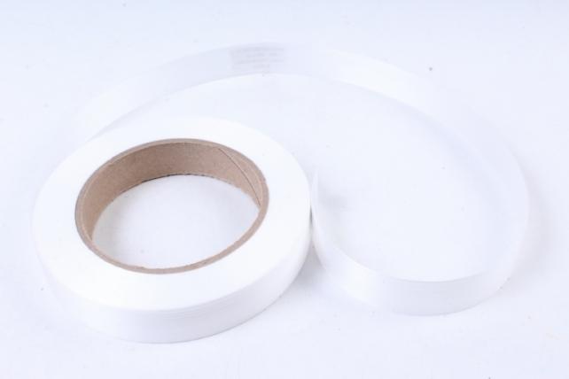 Лента простая итальянское тиснение 2см х 50м - Белая I201
