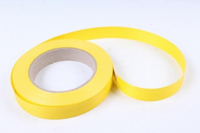 Лента простая итальянское тиснение 2см х 50м - Жёлтая I203