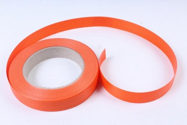 Лента простая итальянское тиснение 2см х 50м - Оранжевая I207