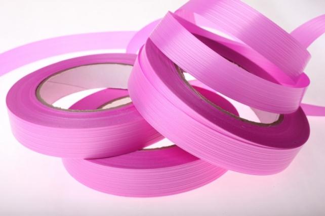 Лента простая итальянское тиснение 2см х 50м - Ярко-розовый I215