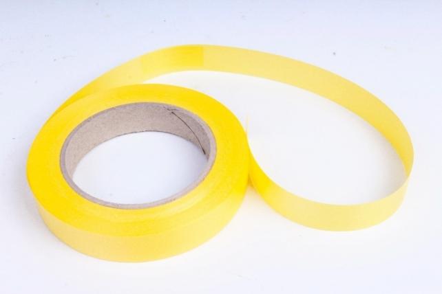 Лента простая (2см*50м) Гладкая без тиснения P295 ЖЕЛТАЯ