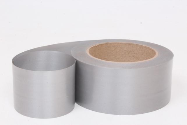 Лента простая (5см*50м) Гладкая без тиснения СЕРЫЙ P503