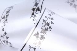 Лента простая (8см*50м) мелкий лист P840 БЕЛЫЙ