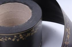 Лента простая (8см*50м) мелкий лист P841 ЧЁРНЫЙ