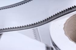 Лента простая (8см*50м) зубцы P835 БЕЛЫЙ
