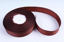 Лента репсовая 2,5см*25y коричневый К