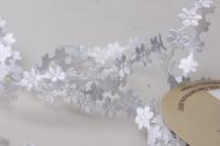 Лента Ромашки белые шелк 1см х 10ярд