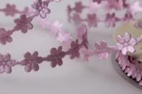 Лента Ромашки розовые шелк 1см х 10ярд