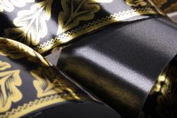 лента с з/п ( 5см*50ярд) атласная дубовый лист a580 черный