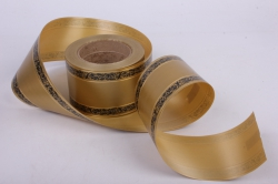 лента с з/п ( 8см*50ярд) лаковая l818 с орнаментом бронзовый