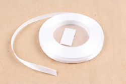 Лента сатиновая 6мм х 25Y белая холодная WSH01-6MM
