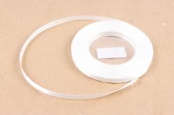 Лента сатиновая 6мм х 25Y белая WSH42-6MM