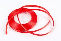 Лента сатиновая 6мм х 25Y красная WSH26-6MM
