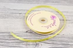 Лента сатиновая 6мм х 25Y лимонная WS7052-192-6 мм