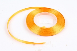 Лента сатиновая 6мм х 25Y оранжевая WSH196-6MM