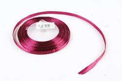 Лента сатиновая 6мм х 25Y пурпурная WSH83-6MM