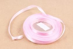 Лента сатиновая 6мм х 25Y розовая WSH181-6MM