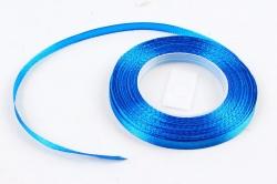 Лента сатиновая 6мм х 25Y синяя WSH40-6MM