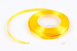Лента сатиновая 6мм х 25Y ярко-желтая WSH16-6MM