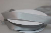 Лента шелк (15 мм х 20 м) Серебряная