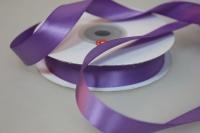 Лента шелк (15 мм х 20 м) Сиреневая