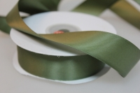 Лента шелк (25 мм х 20 м) Оливковая