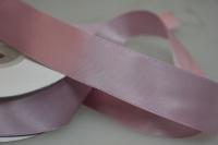 Лента шелк (25 мм х 20 м) Розовая