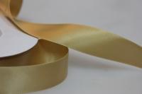 Лента шелк (25 мм х 20 м) Золотая