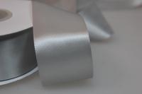 Лента шелк (38 мм х 20 м) Серебряная