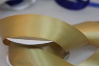 Лента шелк (38 мм х 20 м) Золотая