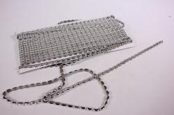 Лента-тесьма 0,5см*8,5м пластик  серебро  5083