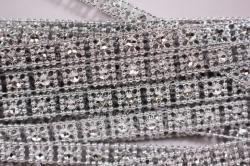 Лента-тесьма 1см*9м пластик серебро 3977
