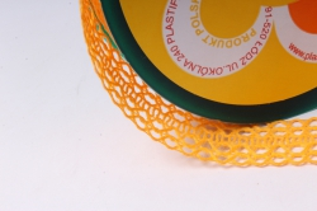 лента ткан. 2,5см*10м кружево тёмно-желтая 224166 п