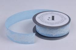 Лента ткан. 3,5см*5м Голубая  272003М.3,5/05  П