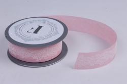 Лента ткан. 3,5см*5м Розовая  272003М.3,5/05  П