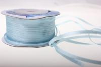 Лента ткань - шнур атласная 0,3см х 50м - Голубой