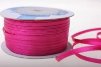 Лента ткань - шнур атласная 0,3см х 50м - Малиновый