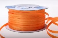 Лента ткань - шнур атласная 0,3см х 50м - Оранжевый