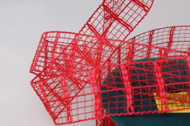 Лента тканевая 4см х 10м Кружево Красный 224151П