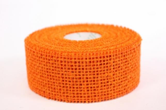 Лента тканевая - Мешковина 5*10м Оранжевая  221014 П