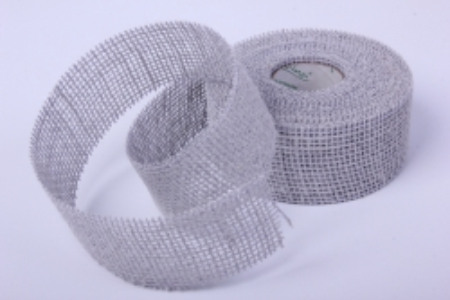 Лента тканевая - Мешковина 5*10м Серая 221014 П