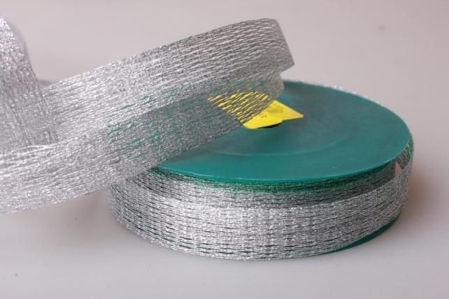 Лента тканная 2см х 10м Невод Серебро 224001 П
